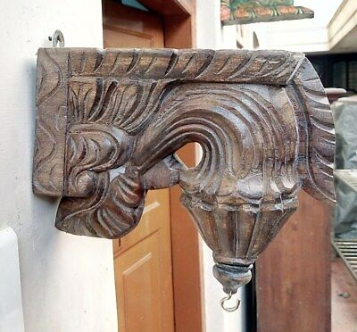 Wall Hanging Corbel Pair Wooden Bracket used for hanging lamp bell Diwali Gift 2