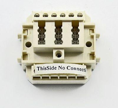 Telefonanschlussdose TAE Aufputz NFN 1xTelefon 2x Nebengeräte :Altweiss/Beige
