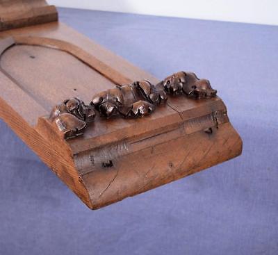 Antique French Gothic Revival Chestnut Wood Corbel/Beam/Pillar 9