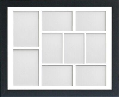 Frame Company Jellybean Black Wooden Multi Aperture Collage Photo frame & Mount 9