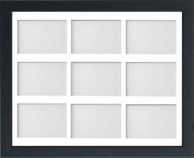 Frame Company Jellybean Black Wooden Multi Aperture Collage Photo frame & Mount 4