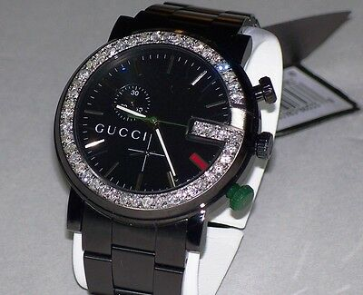 1f56d30e97b ... New Men s 101m Gucci chrono 1.92ct.aprx.custom set real Diamond Watch  YA101331