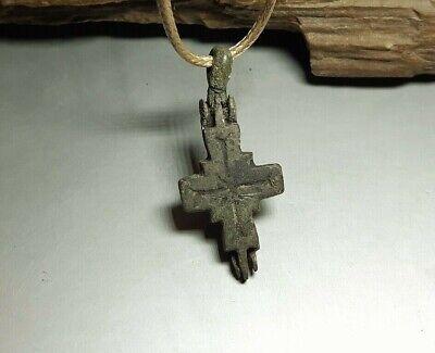 Fine Pendant Amulet Reliquary Cross ENKOLPION Kievan Rus.Viking 9-13 cen.AD#2598 4