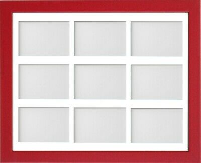 Frame Company Jellybean Red Wooden Multi Aperture Collage Photo frame & Mount 4