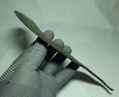 RARE Perfect Ancient EUROPEAN BRONZE AGE Celtic Copper SICKLE  1500-1000 BC 4