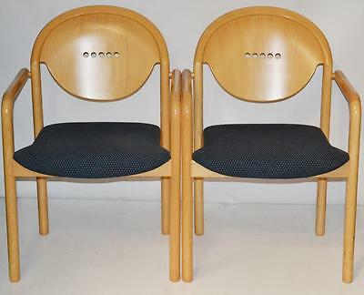 Set of 2 Italian TONON Stackable Teak Chairs - FREE Shipping [PL1591A]