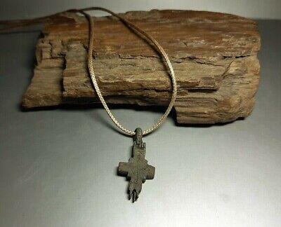Fine Pendant Amulet Reliquary Cross ENKOLPION Kievan Rus.Viking 9-13 cen.AD#2598 2