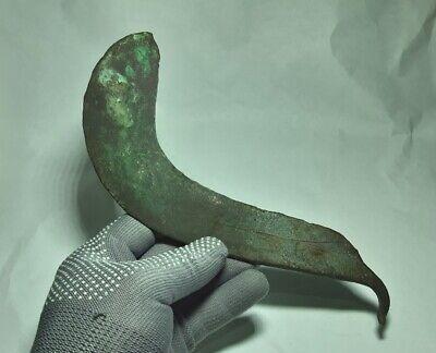 RARE Perfect Ancient EUROPEAN BRONZE AGE Celtic Copper SICKLE  1500-1000 BC 9