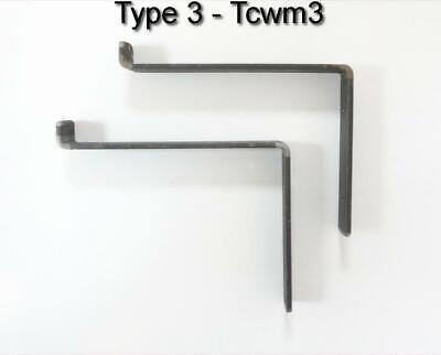 Rustic Shelf Brackets Scaffold Board Heavy Duty 225mm Industrial Steel Metal 12