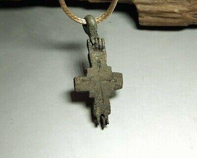 Fine Pendant Amulet Reliquary Cross ENKOLPION Kievan Rus.Viking 9-13 cen.AD#2598 3
