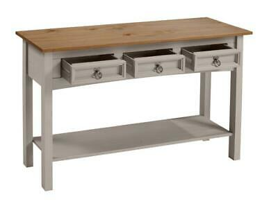 Corona Console Table 3 Drawer Grey Wax by Mercers Furniture® 2