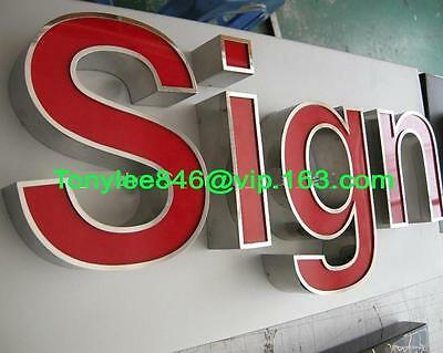 CHANNEL LETTERS with frontlit LED,made by arylic and steel,Neon Sign,12inches 3