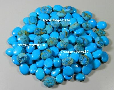 150 Cts Wholesale Lot Natural Ring Size Sky Sleeping Beauty Turquoise Gemstone 2