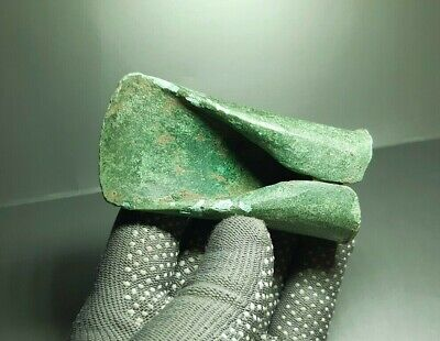 Rare Ancient CELTIC tool Tethered Ax Adze Axe EUROPEAN BRONZE AGE 1500-1000 BC 7