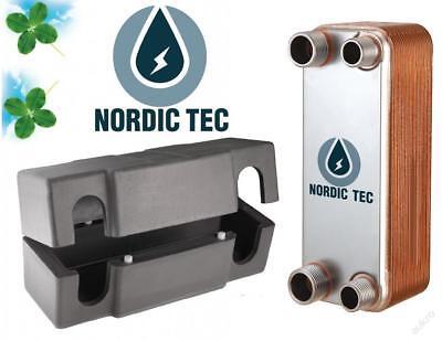SCAMBIATORE di calore a piastre NORDIC  ACCIAIO INOX 25-65kW con ISOLAMENTO 8