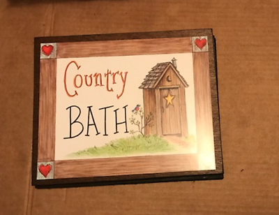 OUTHOUSE COUNTRY BATHROOM powder room primitive bath decor wooden ...