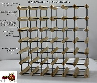 42 Bottle Timber Wine Rack - 1000's sold throughout Australia 100% Aussie made