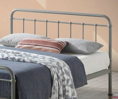 Miami Vintage Metal Bed Frame In Black Ivory Or Grey Finish Single Double King 9