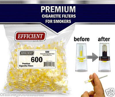 EFFICIENT Bulk Cigarette Filter Tips Block, Filter Out Tar & Nic (600 Filters) 3