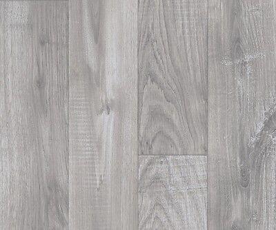 Light Grey Wood Vinyl Flooring 4m Wide