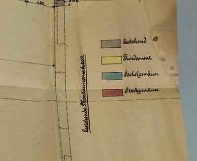 Original Anbauplan Werkzeugmaschinenfabrik F.X Honer in Ravensburg ~ 1900  /S196 7