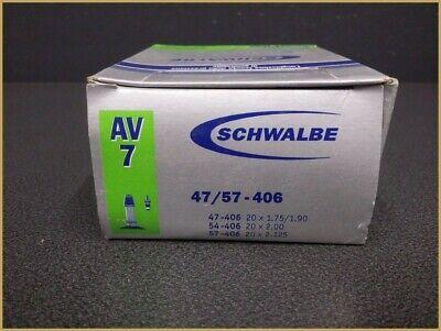 """Schwalbe AV 7 C extra léger de vélo 20/"""" 20x1.75-2.35″ 40//60-406 av40mm"""