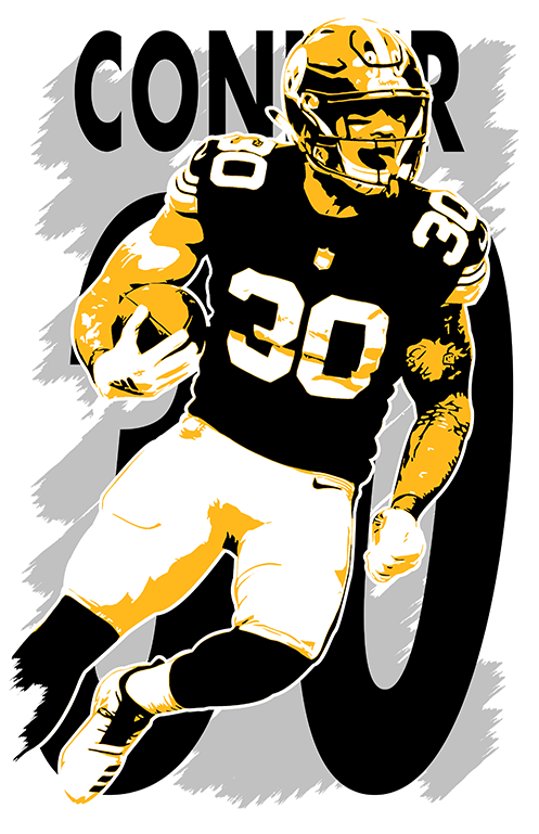 77d901a929c JAMES CONNER art print/poster PITTSBURGH STEELERS FREE S&H! JERSEY 2 2 of 6  See More