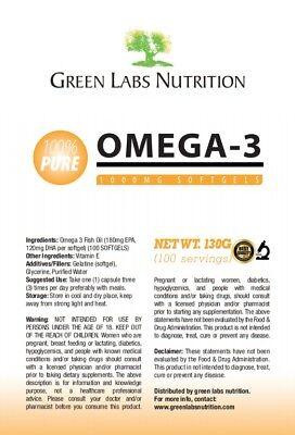 Omega 3 olio di pesce 1000mg Softgels supporta la salute del cuore 2