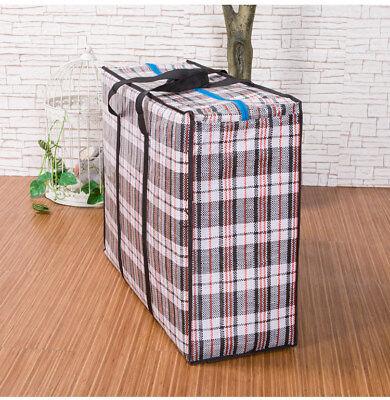 PREMIUM REUSABLE LAUNDRY STORAGE BAG SHOPPING BAGS ZIPPED STRONG JUMBO LARGE BAG