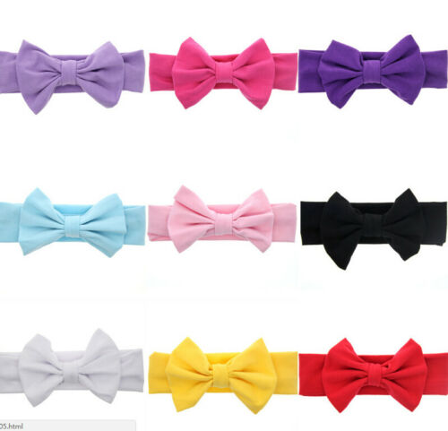 Toddler Girls Kids Baby Big Bow Hairbands Headband Stretch Turban Knot Head  HGU 3