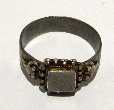 Amazing Medieval Or Post-Medieval Silver Ring With Gold Plated # 81B 7