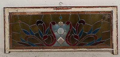 Vintage English Stained Glass Hanging Window (3130)NJ 2