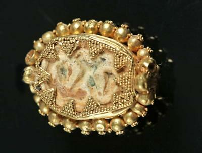 Egyptian Steatite Scarab / Etruscan 16K Gold Bezel Lot 2B