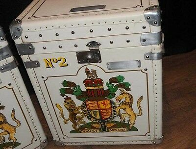 Pair Leather Trunks Luggage Boxes Coffee Tables Side 6