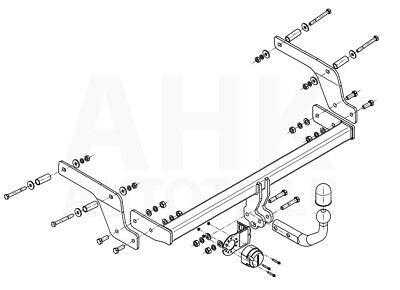 Dacia Sandero II Stepway ab 13 Anhängerkupplung starr+E-Satz 7p