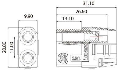 XT90S Anti Blitz Stecker + Buchse, 1-5 Paar LiPo Hochstrom Goldstecker, 4,5mm 8