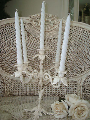 Fabulous Vintage Painted French Candelabra 5