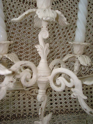 Fabulous Vintage Painted French Candelabra 4