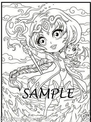 CHIBI GIRLS ADULT Colouring Book Anime Manga Japanese Fantasy Kawaii ...