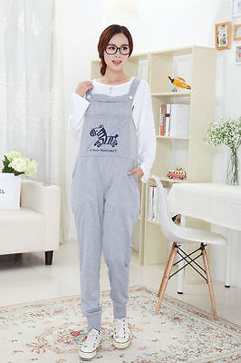 Maternity Dungarees Overalls Pants Trousers Little Horse Cute Comfy M//L//XL