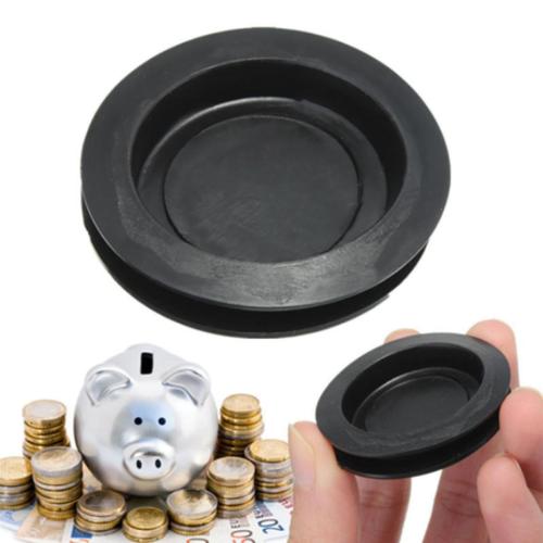 10Pcs Black Rubber Money Saving Box Piggy Bank Box Closure Plug Stopper Cover