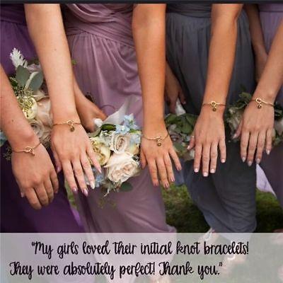 Personalized Initial Knot Bracelet Monogram Bracelet Bridesmaid Letter Bracelet 5