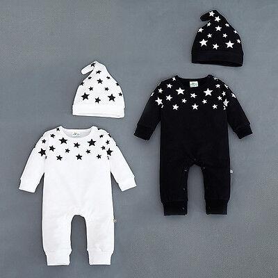 Top Baby Kids Boys Girls Infant Romper Jumpsuit Bodysuit Cotton Outfit Set 0-18M 10