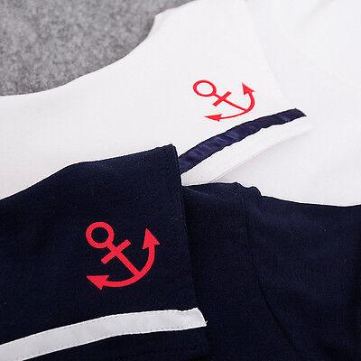 c116f9287668 UK BABY BOY Girl Sailor White Navy Romper Suit Grow Dress Summer ...