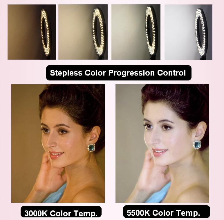 Fodoto 18 inch Bi-Color LED Ring Light Kit for Social Media and Beauty Shoot 5
