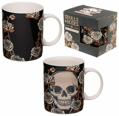 Novelty Gothic Skull Colour Heat Changing Magic Coffee Mug Cup New In Gift Box 3