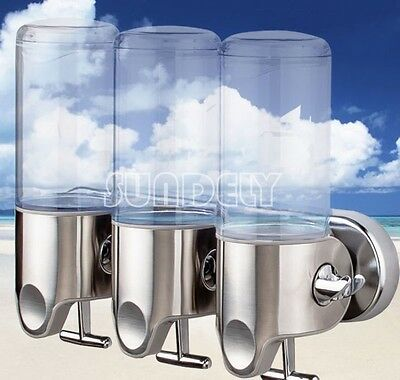 500ML Shower Gel Body Lotion Shampoo Liquid Wall Mount Soap Dispenser Bathroom