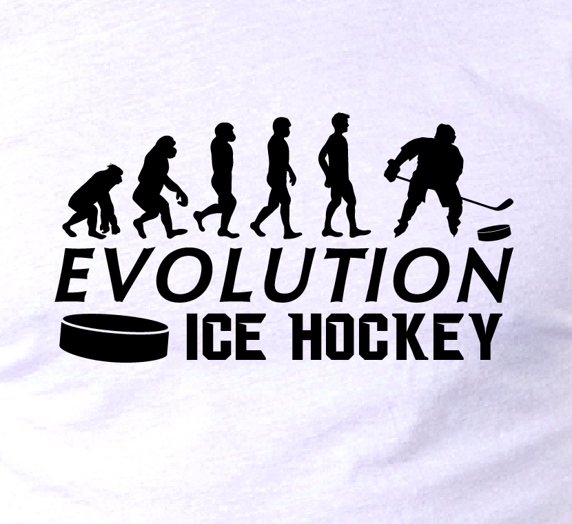 EVOLUTION ICE HOCKEY • SLAPSHOT PUCK • Sports fan T-Shirt GR8 FUN Birthday gift