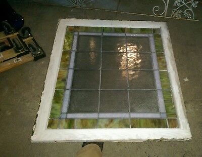 Reclaimed Antique Stained glass window from Crawford's Bakery 2