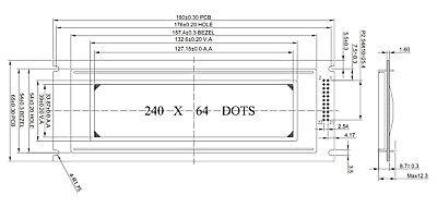 240X64 24064 GRAPHIC LCD Module Display w/RA6963,T6963 Controller w/Tutorial